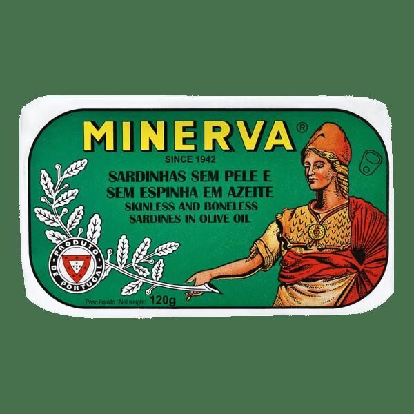 Sardinhas sem pele e sem espinhas em azeite Minerva