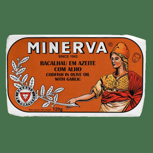 Conserva de bacalhau em azeite e alho Minerva