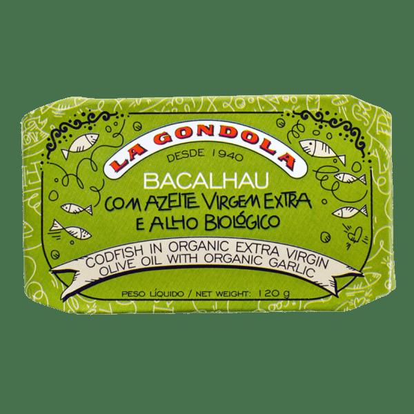Lata de Bacalhau com Azeite e Alho Biológico