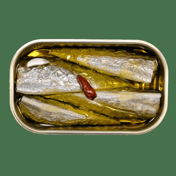 Sardinha inteira em azeite picante ecologica da Minerva